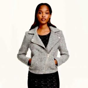 H&M Divided Gray Wool Blend Moto Jacket Size 12
